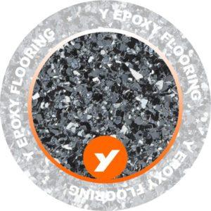 Epoxy Flooring Black Small Chips