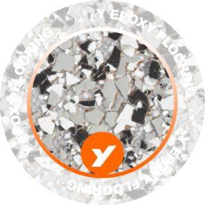 Epoxy Flooring Grey Large Chips